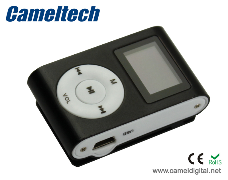 Portable LCD Screen Metal Mini Clip-on MP3 Player with Radio