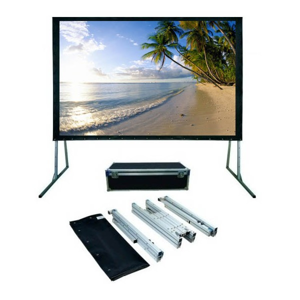 Front and rear fabric fast fold screen, Portable 200 inch projection screen fast folding projector screen