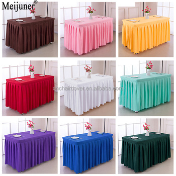 Hotel Conference Room Table Skirt Polyester Wedding Banquet Table - Conference table skirts