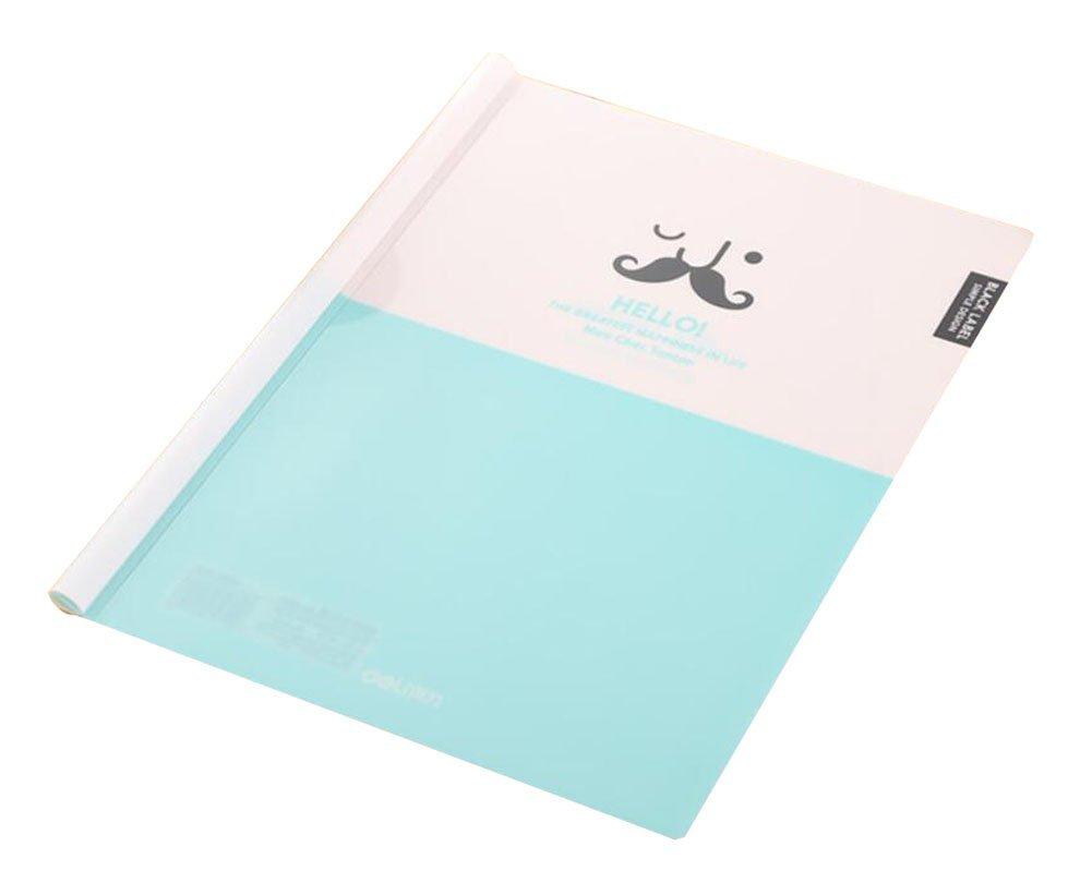 Plastic Office School Blue Sliding Bar A4 Paper File Folder 5pcs