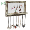 Rustic Wooden Wall Mount Jewelry Organizer