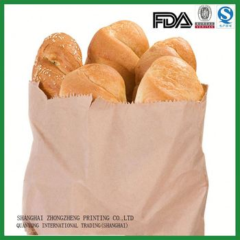 China Gold Supplier Paper Bakery Bread Bags For Homemade