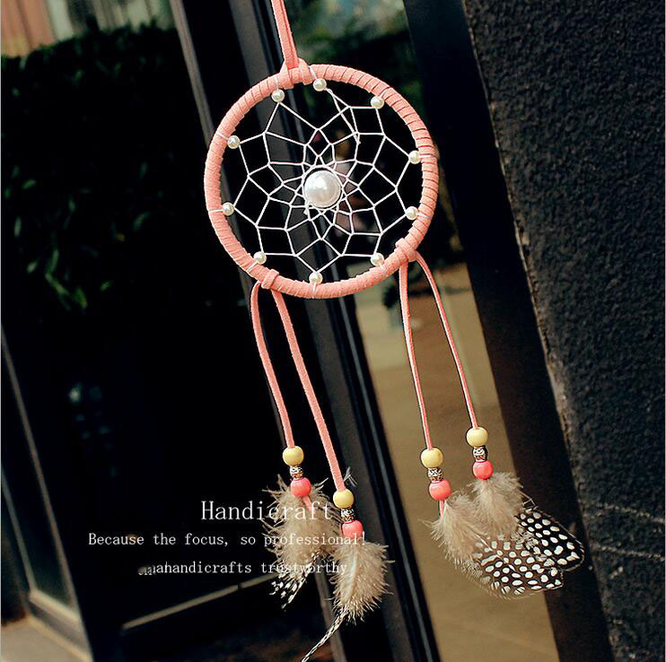 Pearl Feather Dreamcatcher National Wind Hanging Crafts Home Decorative Indians Style Dream Catcher Handicrafts Gifts