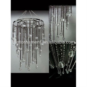 Party decoration beaded crystal acrylic chandelier buy for Plastic chandeliers for parties