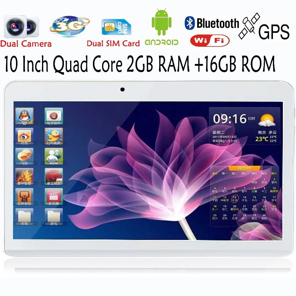 10 אינץ ' המובנה 3G טלפון אנדרואיד Quad Core Tablet pc אנדרואיד 4.4 2GB RAM 16GB WiFi, GPS, FM, Bluetooth 2G+16G טבליות מחשב