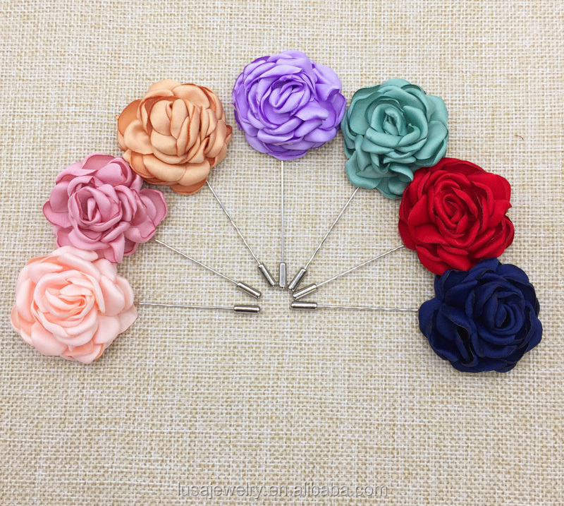 Seven color available korean style flower muslim brooch hijab scarf pins for wholesale BRL0269