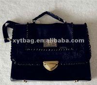 2013 latest design Euramerican style ladies black briefcases