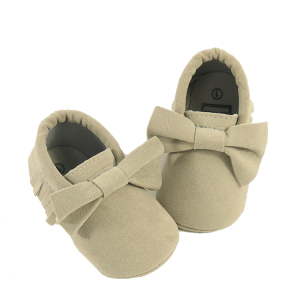 Boys Girls Soft Sole Tassels Prewalker Anti Slip Warm Snow Boots Leather Mocassins Baby Shoes