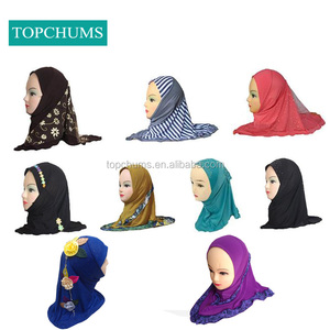 Cheap supply ebay Amazon hot-selling Middle East muslim kids fashion hijab