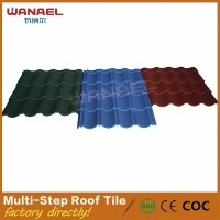50 Years Warranty Wanael Multi-Steps Classical Stone Coated Metal Roof Production Line, Home Depot Types Of Roof Tiles