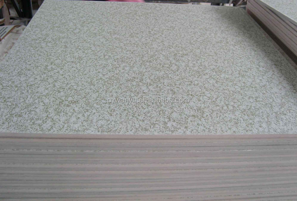 PVC laminated gypsum ceiling tile for ceiling decoration View