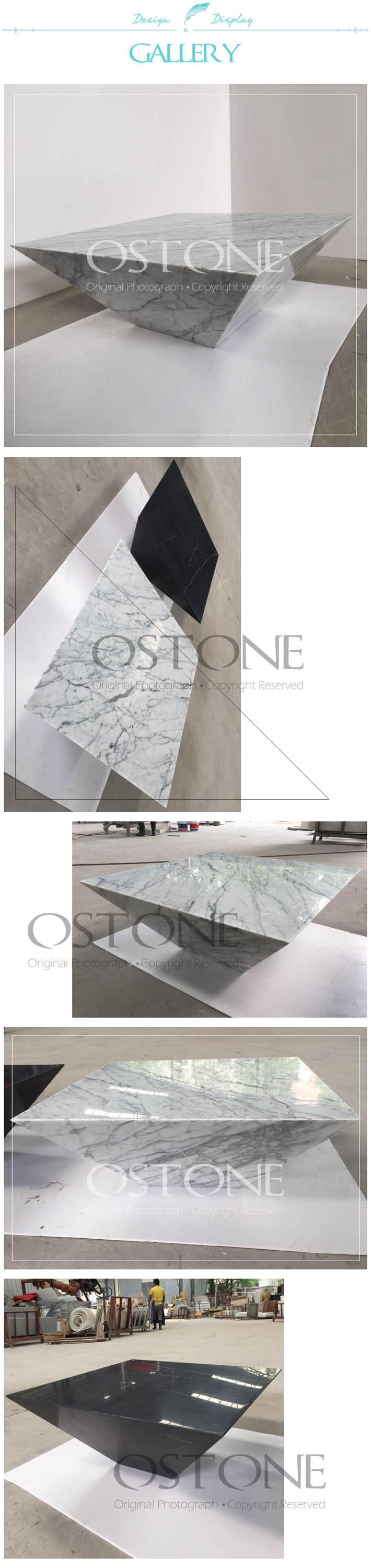 High Gloss Alibaba New Model Statuario White Marble Top Coffee