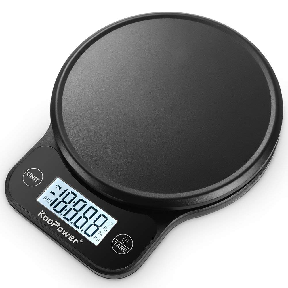 Digital Kitchen Scale,13lb 6kg, 0.04oz/ 1g Multifunction Food Scale, High Accuracy Cooking Scale, 5 Units, Tare & Auto Off Function, ABS Material & Slim Design, Elegant Black ( Batteries Included )