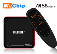 20 unids/lote Wechip M8S W Android TV Box S905W soporte CPU 2,4 GHz WiFi 4 K H.265 android 7,1 <span class=keywords><strong>os</strong></span>