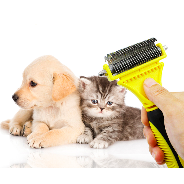 Pet toys dog cat corner self groomer brush corner scratcher hair grooming cleaning tool