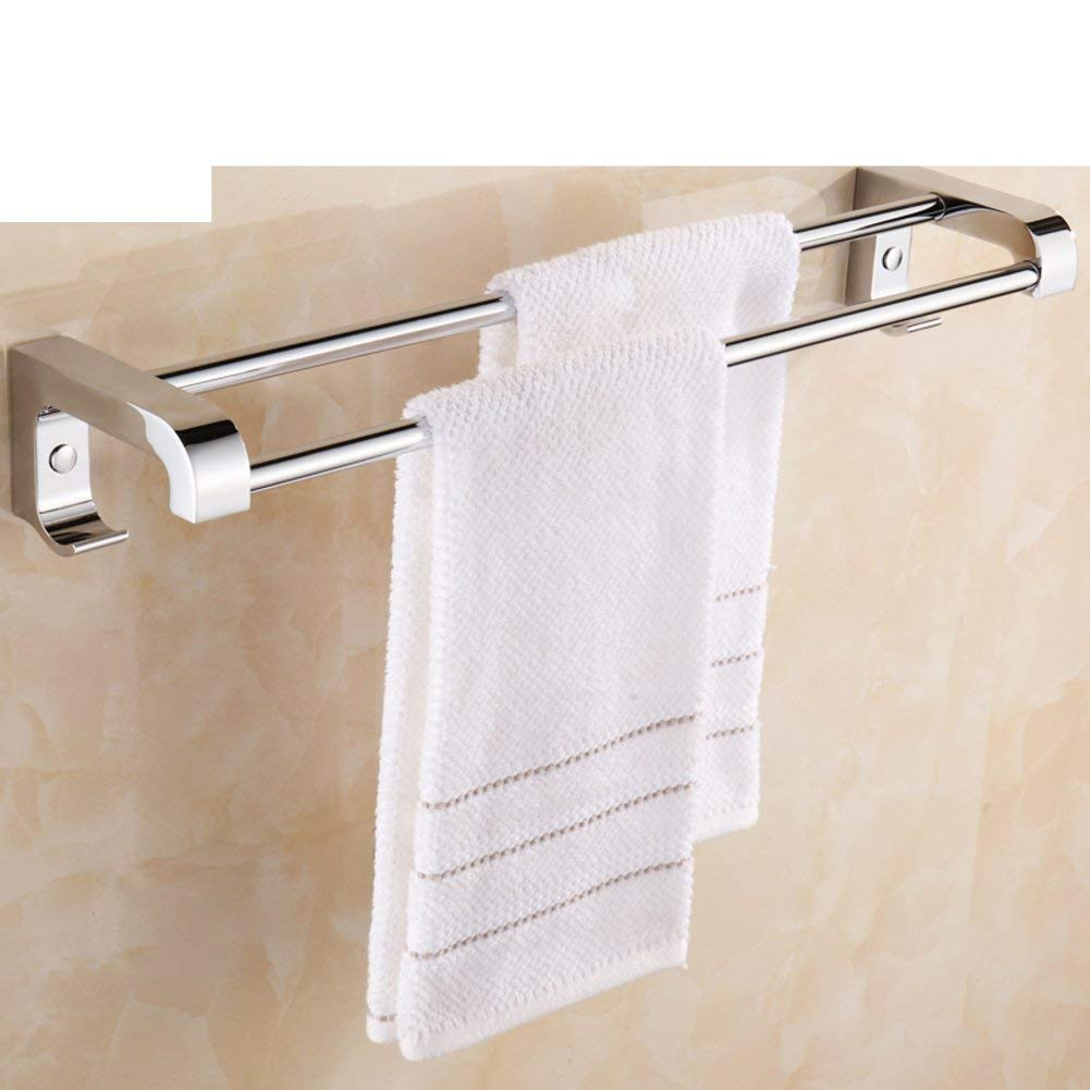 EQEQ Bath Rooms, Stainless Steel Towel Rail/Towel Rack/Bath Rooms, Bath Room Towel Rack/2-Pole Shelf/Trailer - B