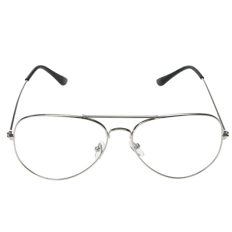 BZ327 уникальные прозрачные линзы, металлические Простые Стеклянные очки, оправа UV400, удобные носоупоры для взрослых женщин, длительное время ...(Китай)