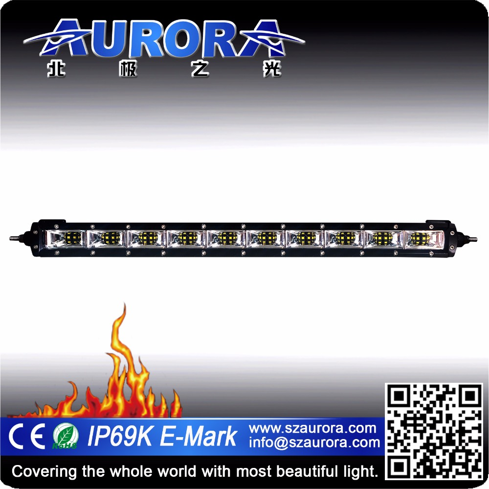 Aurora 20w-250w 2-50 inch explosion-proof and heat-proof led light bar fire truck./