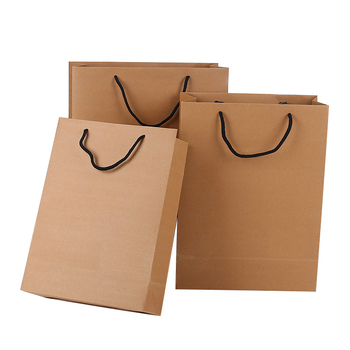 Luxury Cheap Custom Famous Brand Logo Printed Shopping Kraft Craft Paper Bag with Offset Printing