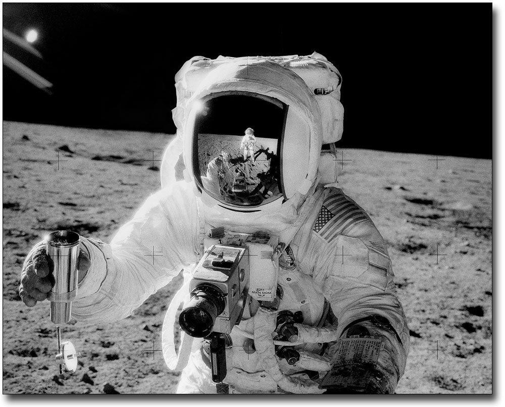 Apollo 12 Alan Bean w/ Sample on Moon 11x14 Silver Halide Photo Print