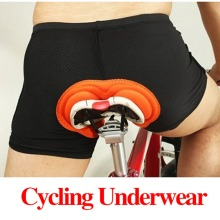 Fashion Unisex Black Bicycle Cycling Comfortable font b Underwear b font Sponge Gel 3D Padded Bike