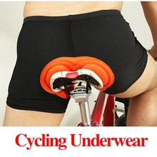 Fashion Unisex Black Bicycle Cycling Comfortable Underwear Sponge Gel 3D Padded Bike Short Pants Cycling Shorts Size S-XXXL