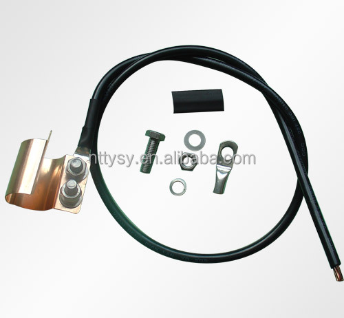 0.8m click on grounding cable with rubber tape and butyl kit