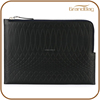 classic sheep leather clutch bag with zipper for men