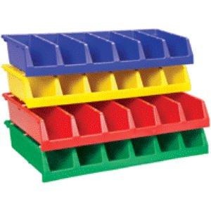 Akro Mils - Plastics, 18 In Deep Akro System Bins, Ak-Sy-Bin18-Blue, W X D X H Overall: 33 X 18 X 5, W X D X H Compartment Size: 3 13/20 X 16 2/5 X 4 93/100, Color: Blue, 30318Blue