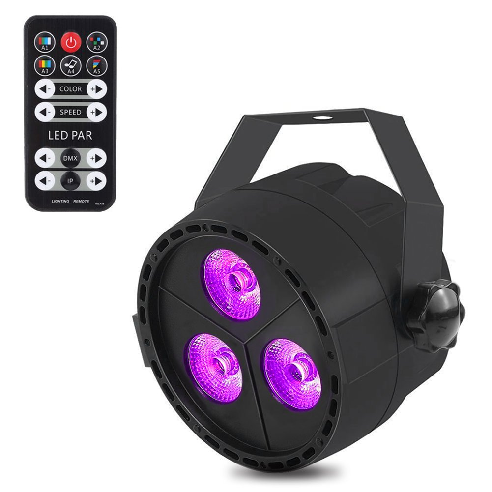 LITAKE Par Lights, Remote Control LED Stage Lighting, RGB DJ Lights with DMX, Strobe & Sound Active Mode for Disco, Party, Wall Wash and Christmas