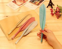 Promotional bird feather pen, cheapest bird fashion feather pen, funny fancy mental bird feather