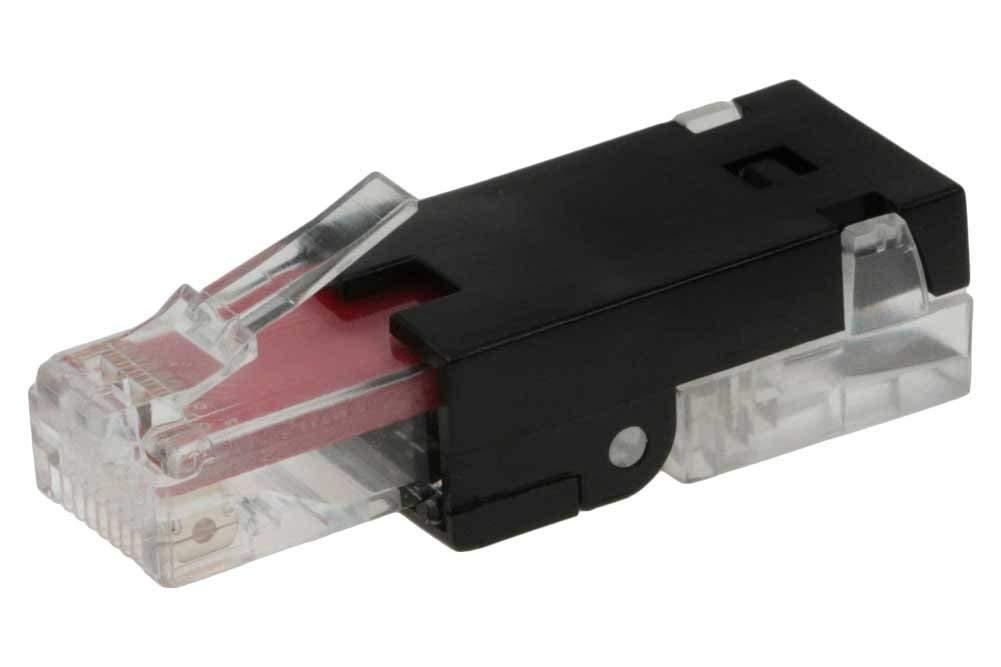 SF Cable Keystone Jack Tooless RJ45 CAT6 Black (RJ45 CAT6 Tool Less)