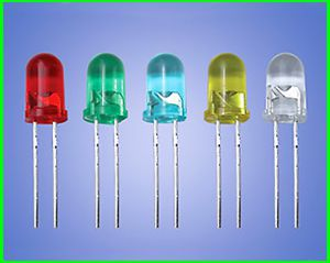CE ROHS bi-color/rgb/red/green/blue/white/yellow high intensity 5mm round battery light led diode