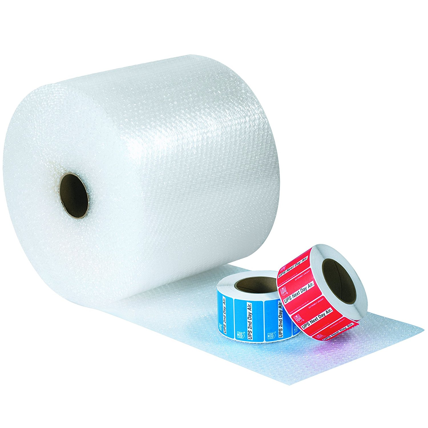 """Ship Now Supply SNBWUP516S12 Upsable Air Bubble Rolls, 5/16"""" x 12"""" x 188', (Four 12"""" Rolls), 12"""" width, 0.313"""" Height, Clear (Pack of 4)"""