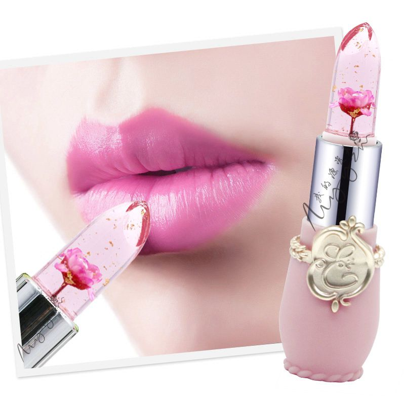 Jelly Lipsticks Color Temperature Change Petal Flower Jelly Lipstick