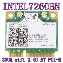 Intel Wireless-n 7260 7260hmw Bn Half Mini Pci-e Bluetooth Bt Wireless Wifi Card 802.11 B G N  2.4GHz