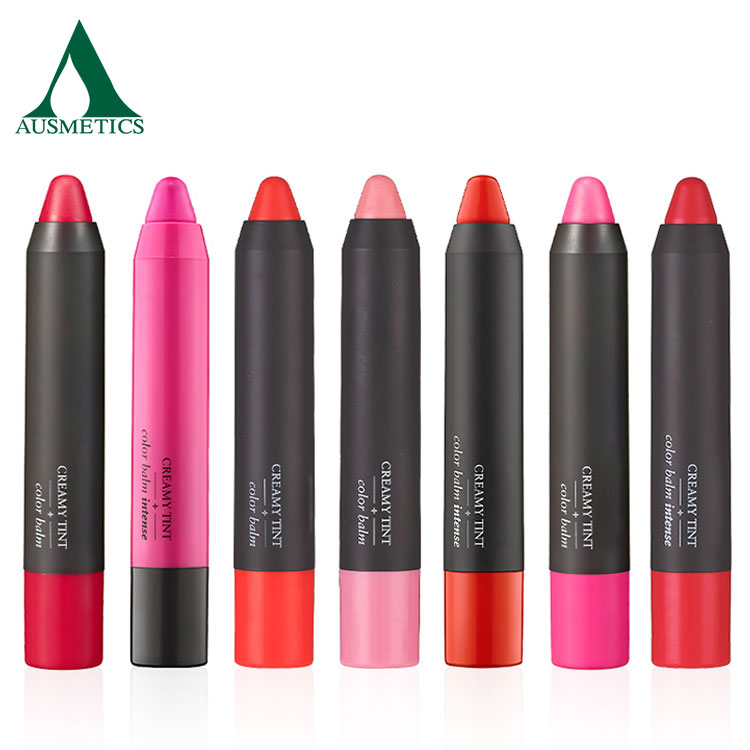 Fashion colors private label matte lipstick pencil long-lasting cosmetic lip crayon