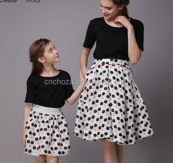 Modelo de vestido madre e hija