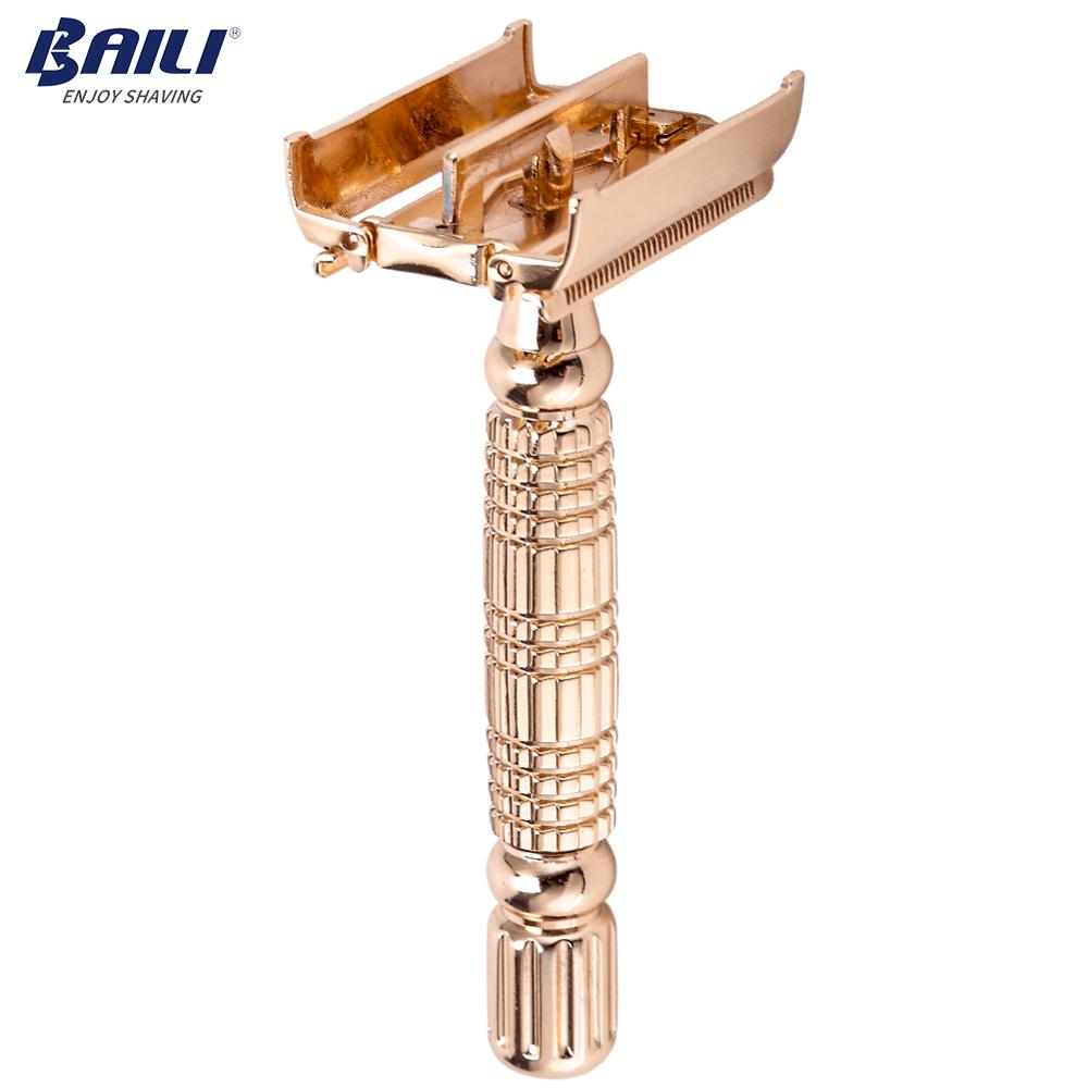 New design double edge safety shaving razor classic wet shaver for women manufacture фото