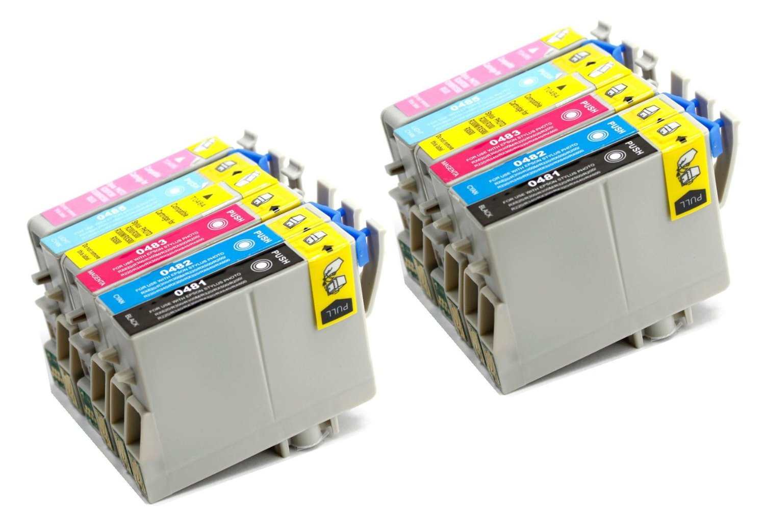 12 Pack Remanufactured Inkjet Cartridges for Epson T048 #48 T048120 T048220 T048320 T048420 T048520 T048620 Compatible With Epson Stylus Photo R200, Stylus Photo R220, Stylus Photo R300, Stylus Photo R300M, Stylus Photo R320, Stylus Photo R340, Stylus Photo R500, Stylus Photo R600, Stylus Photo