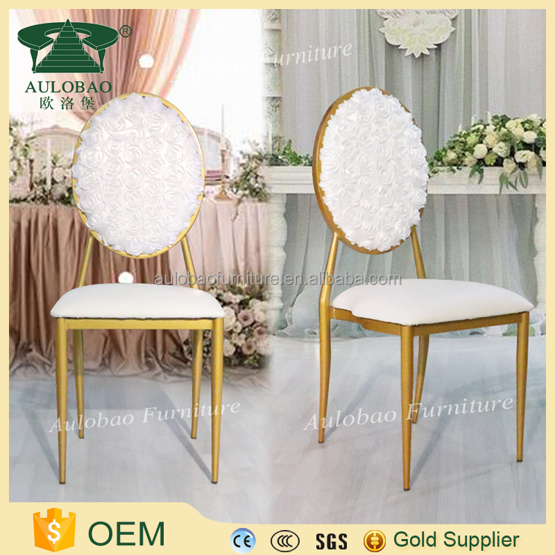 Special Flower Back used hotel fancy banquet chairs for sale