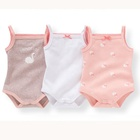Baby Toddler Clothing 100% organic cotton baby girl boy summer gallus romper OEM brand