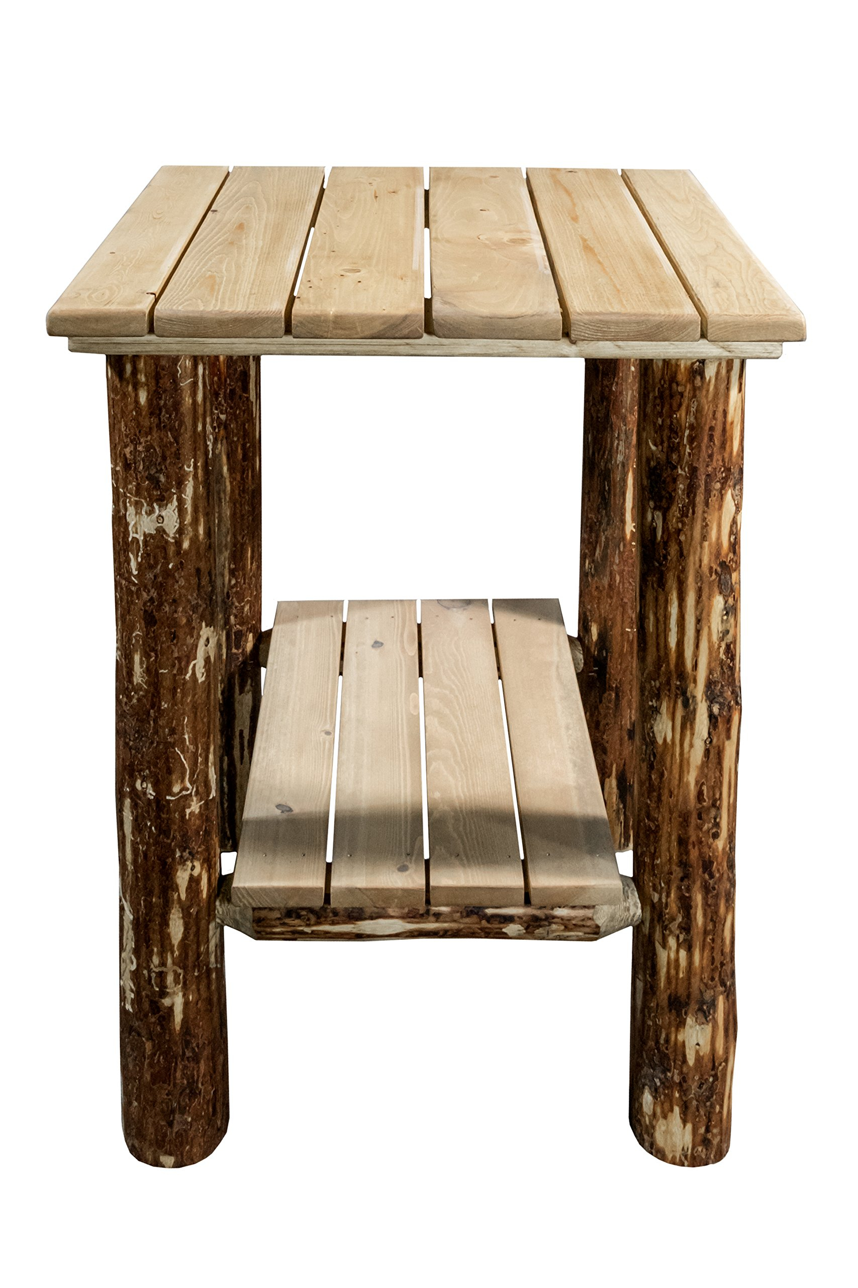 Montana Woodworks Glacier Country Collection Exterior End Table, Exterior Stain Finish