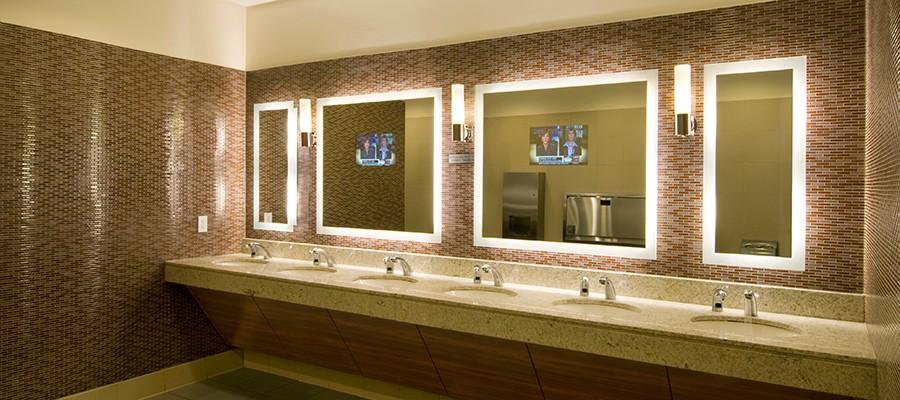 Luxury Hotel Led Illuminated Salon Mirror Tv