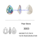 Wholesale Fancy Stone Pear Drop AB Color Rhinestone For Decorating