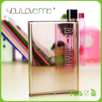 New Product 2016 BPA Free Wholesale Memo A5 Plastic Personalized Water Bottle
