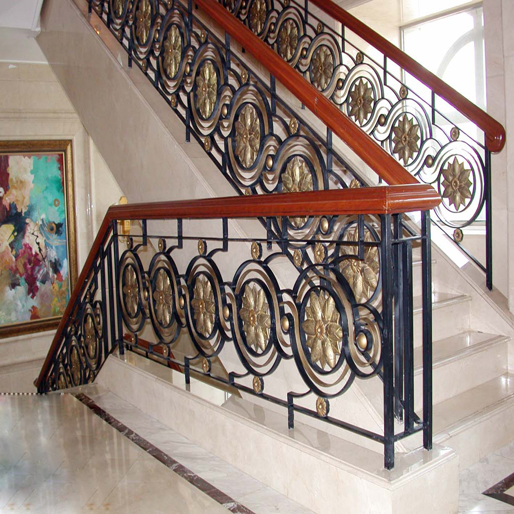 Indoor Decorative Wrought Iron Stair Railing Designs ...