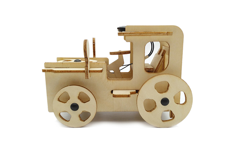 New Design Solar Car Kids Wooden 3D Puzzle