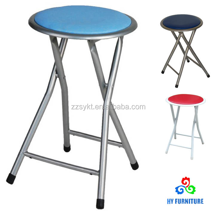 Superb Multicolored Small Round Seat Stool Metal Steel Folding Padded Stool Buy Steel Folding Stool Folding Padded Stool Small Metal Folding Stool Product Creativecarmelina Interior Chair Design Creativecarmelinacom
