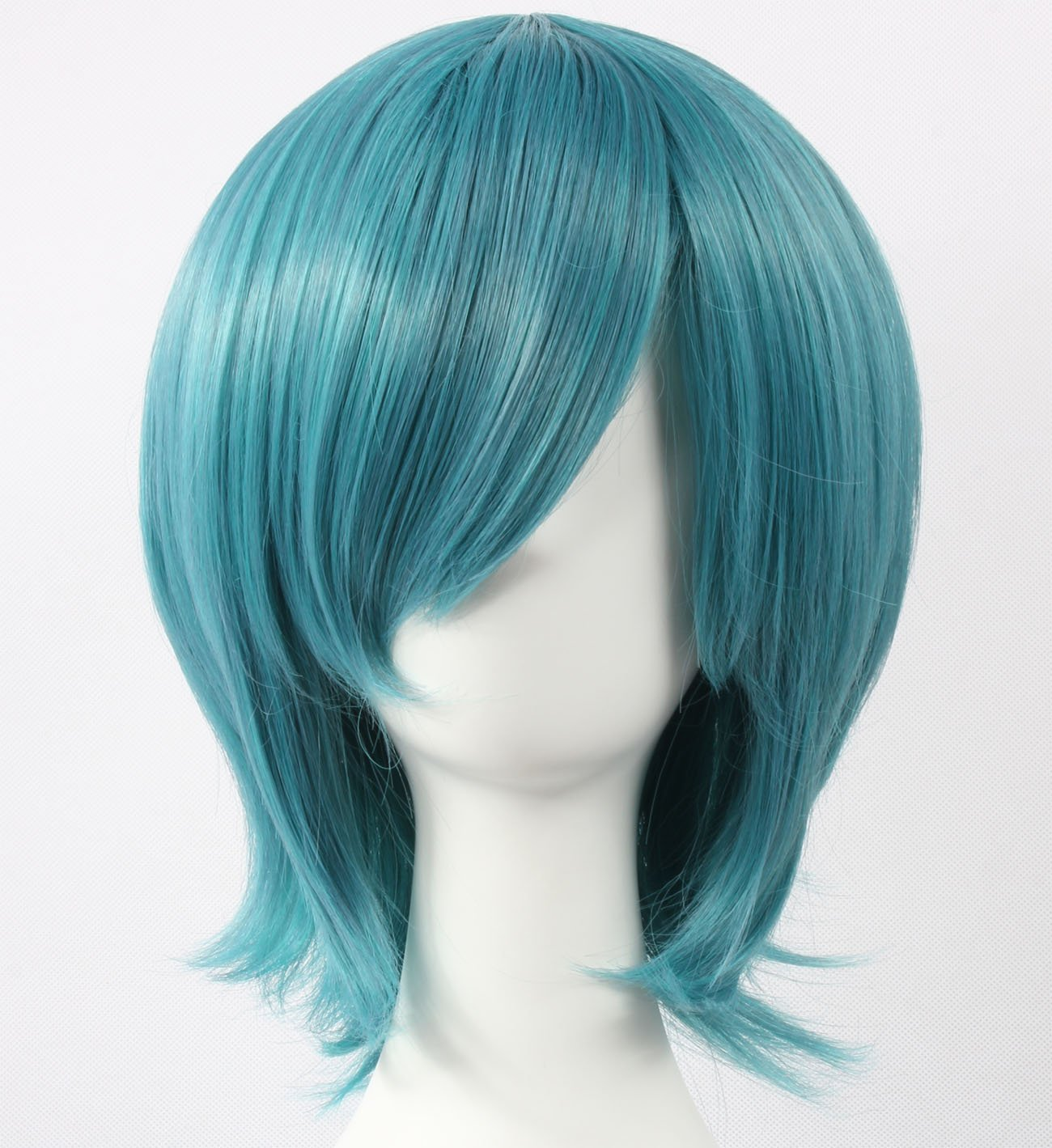 Coolsky Wig Dark Blue Wig Short Dark Blue Straight Wig Kasodani Kyouko Touhou